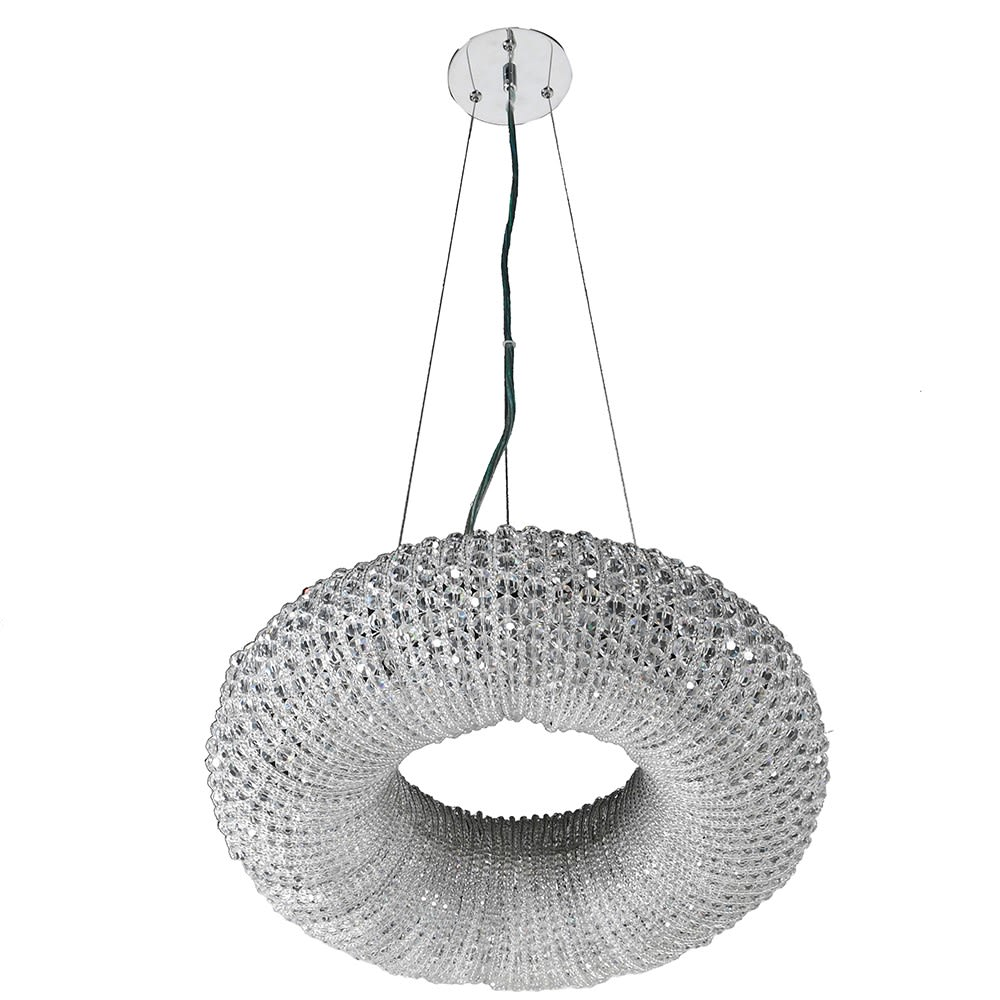 Mertona Ring Chandelier with Sparkling Crystal
