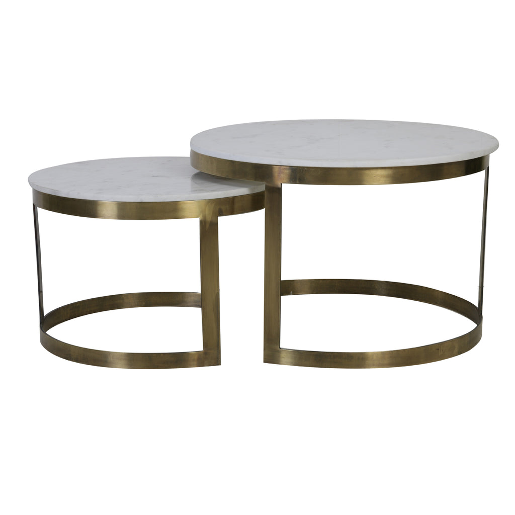Mesmorina Coffee Tables in White Marble