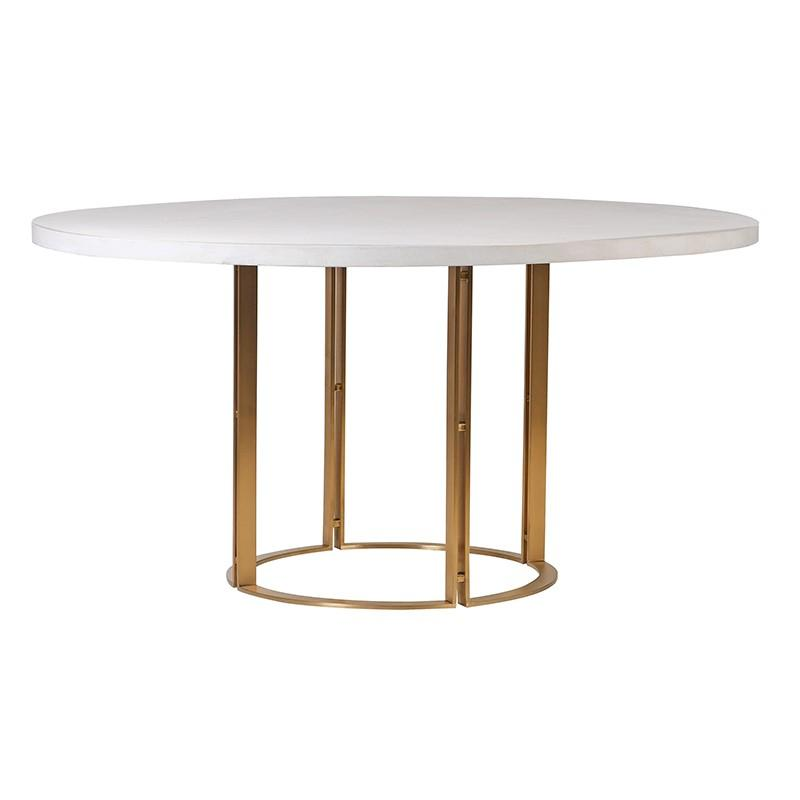Mielle Round Gold Dining Table