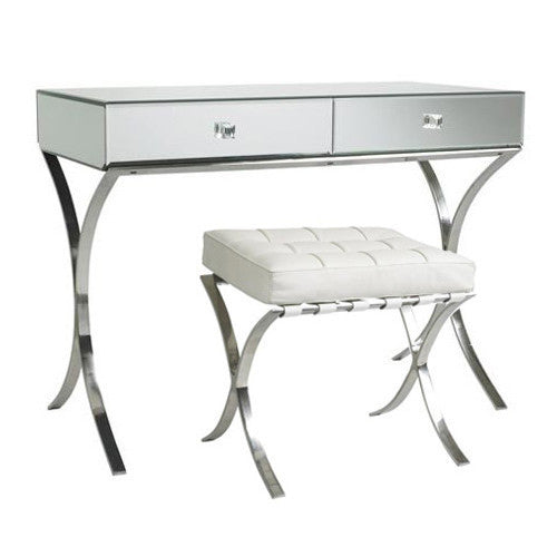 Mirrored Barcelona Dressing Table And Stool Set Shropshire Design
