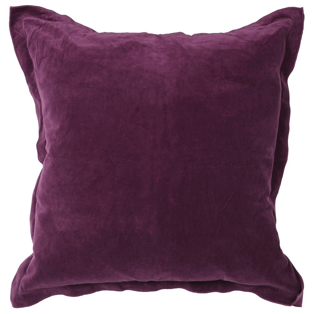 Moxi Cushion Cover with Purple Velvet