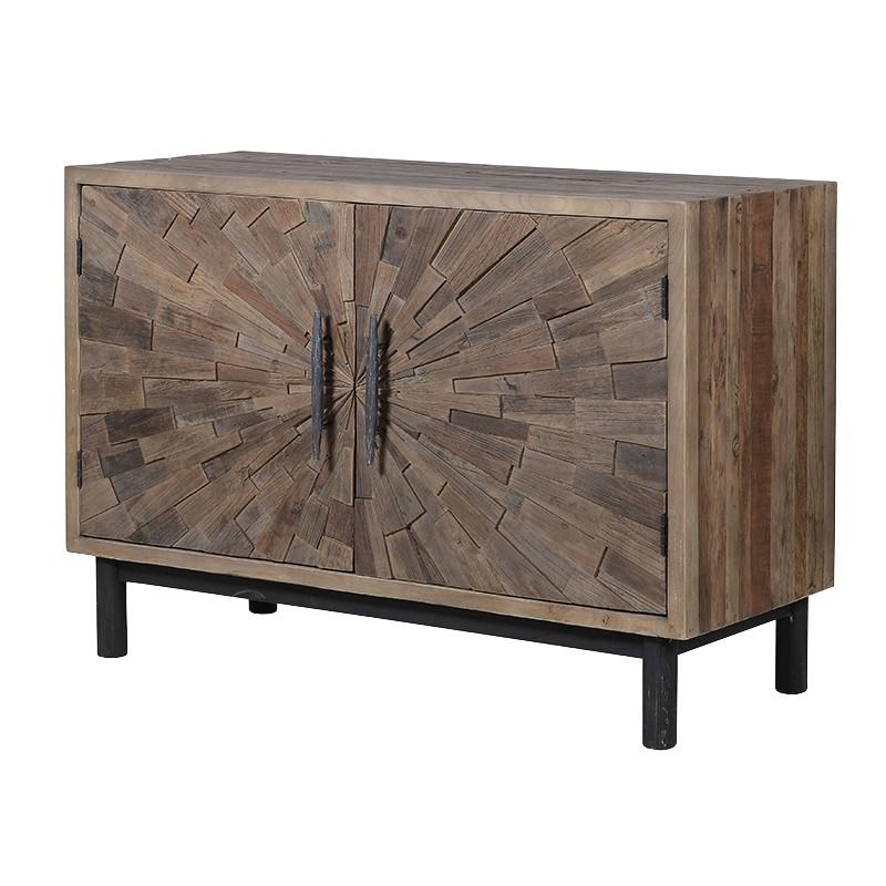 Muscaro Elm Marquetery Cabinet