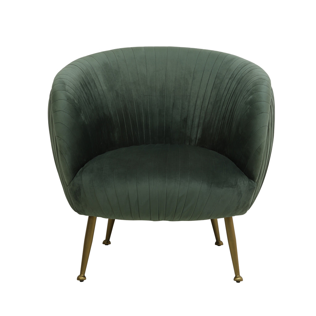 Nerrona Chair in Olive Green Velvet