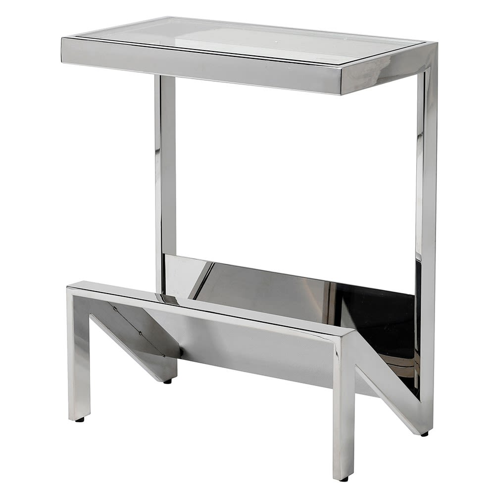 Newmarket Console Table in Stainless Steel