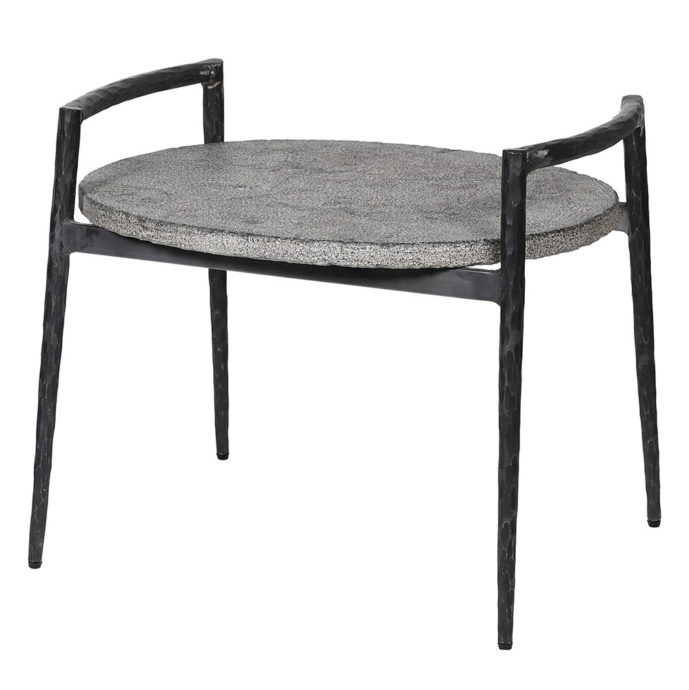 On-trend Antediluvian: Blue Stone and Iron End Table