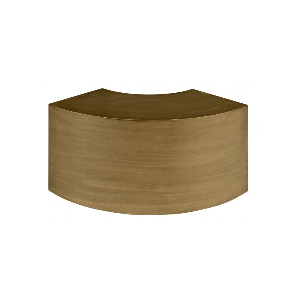 Onda Curved Table with Steel and Bronze Finish