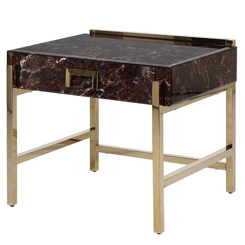 Opulence Marble Effect Side Table