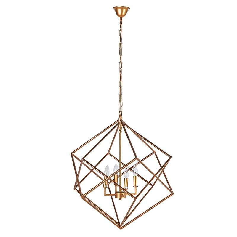 Orion Geometric Gold Pendant Ceiling Light