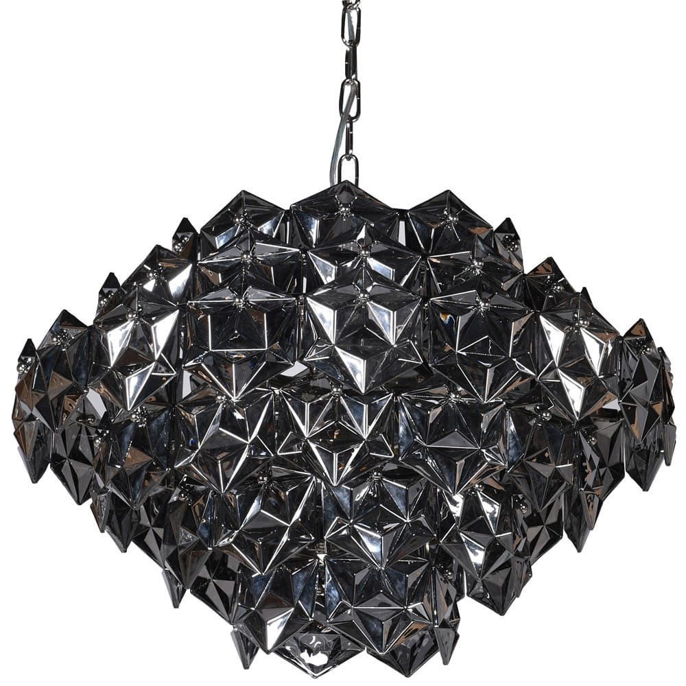 Ostina Chandelier in Smoked Glass
