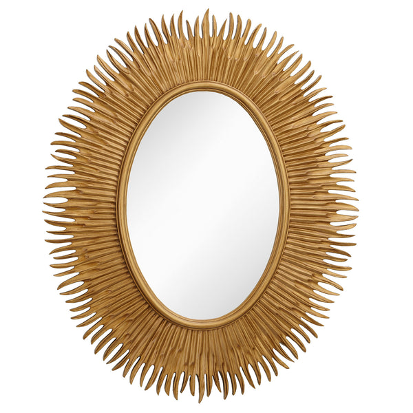 RV Astley Moher Gold Finish Oval Mirror