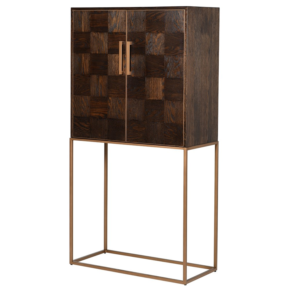 Pellaquia Drinks Cabinet with Parquet Design