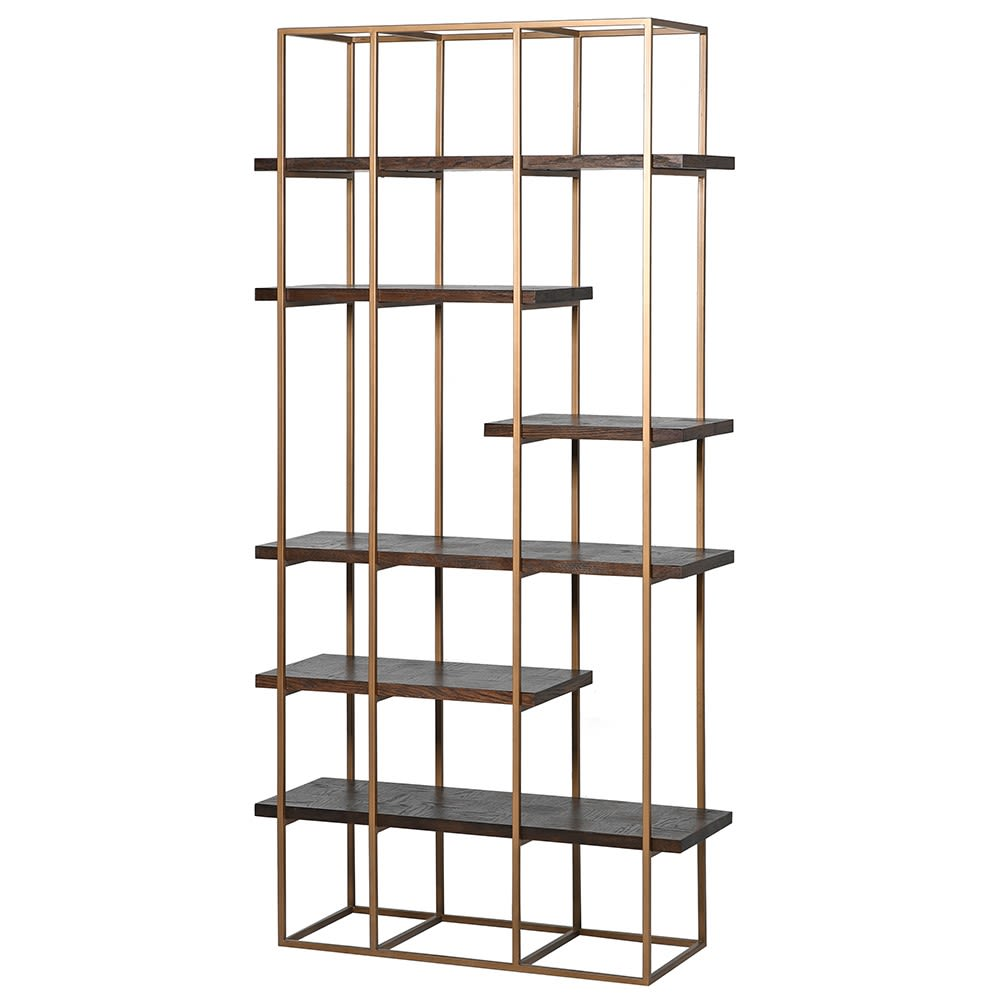 Pellaquia Shelf Unit with Parquet Design