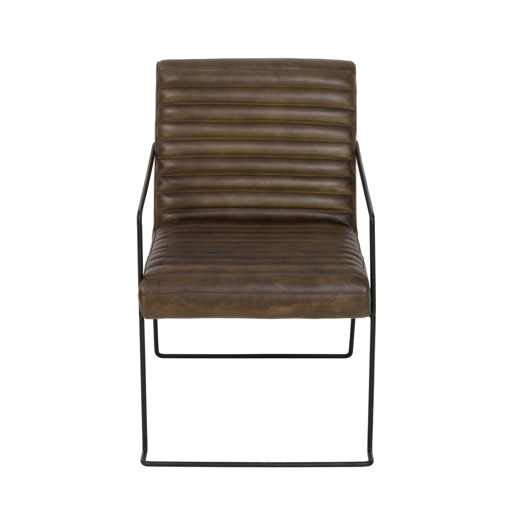 Penang Chair in Brown Leather