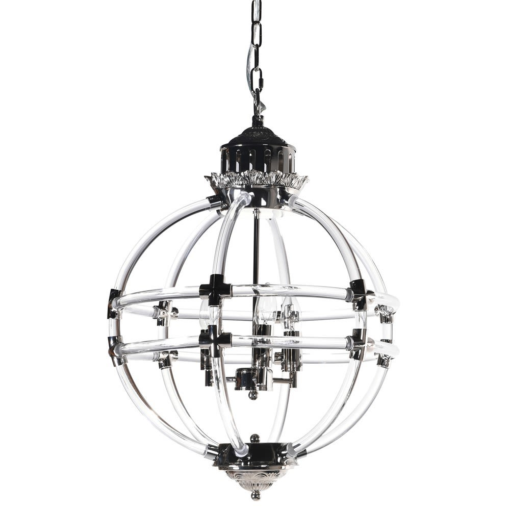 Perfect Minimalism Nickel-plated Pendant Light