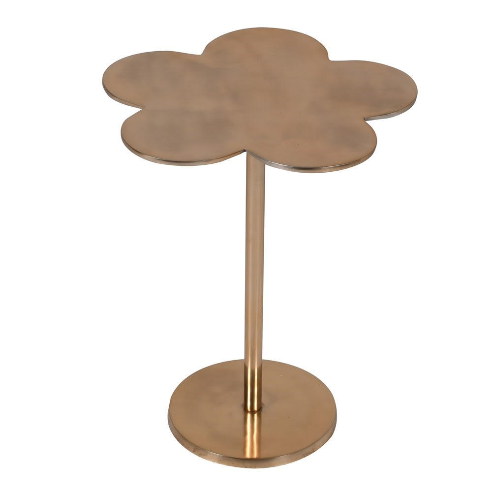 Petal Side Table in Gold Metal