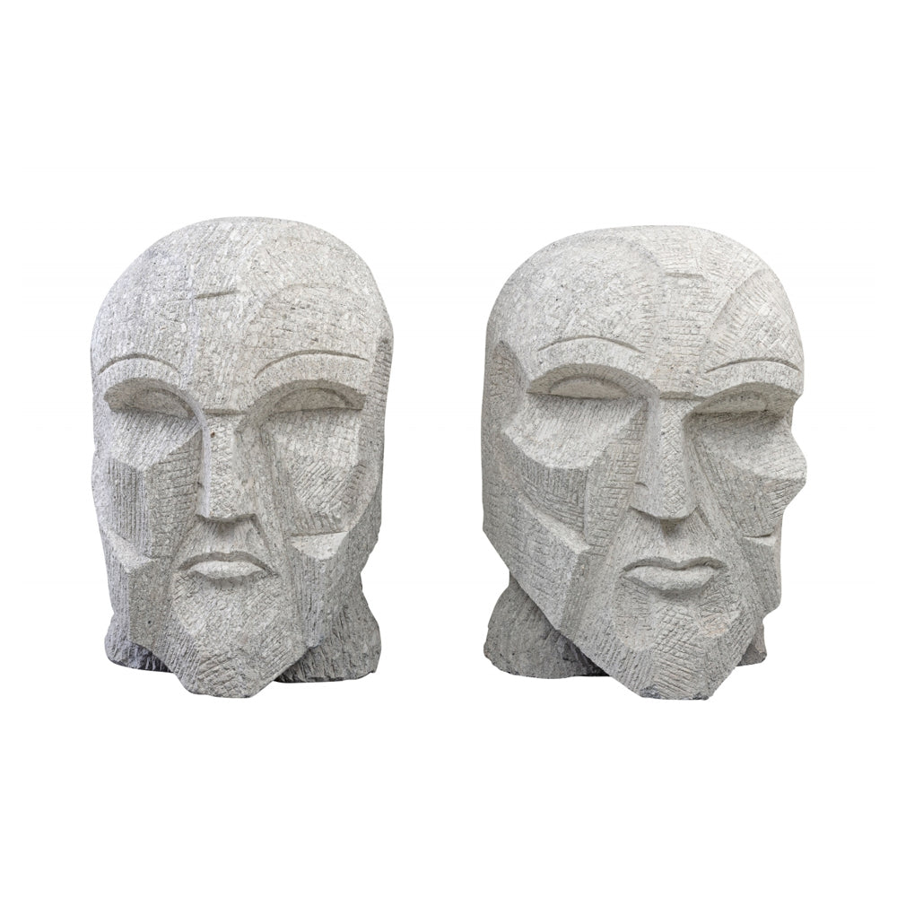 Pizzini Head Statue Decoration Made from Sandstone