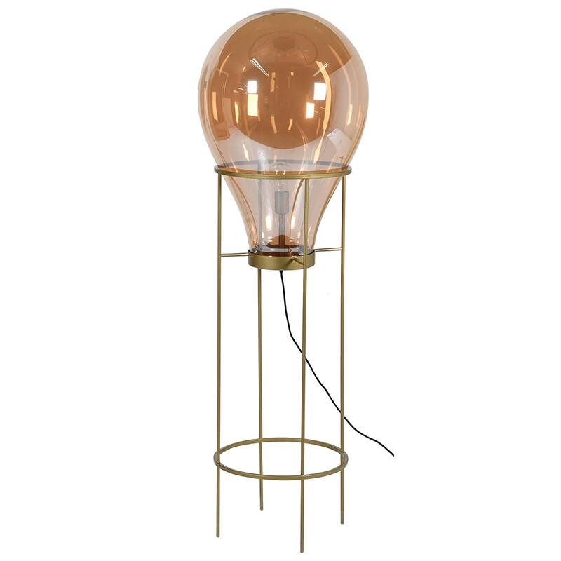 Poppins Amber Bulb Lamp on Stand