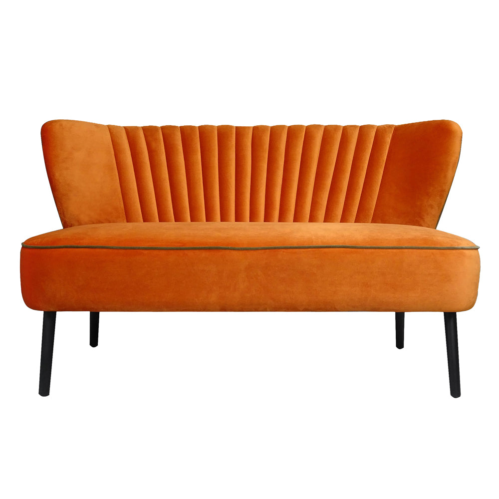 Twiggy Sofa in Pumpkin Velvet
