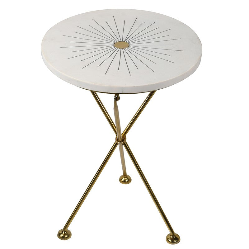 Portia Round Table with Inlay