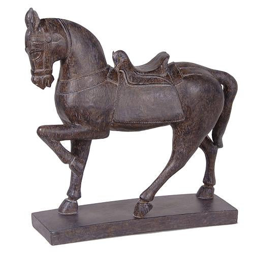 Prancing Decorative Black Horse