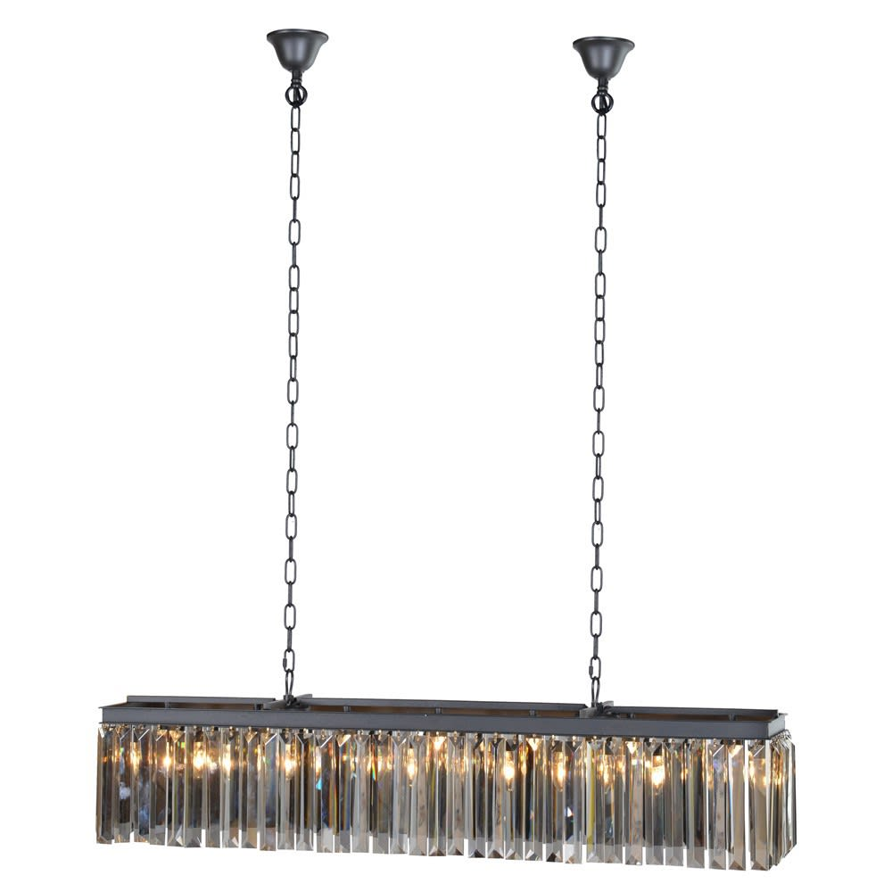 Prohibition Smoked Crystal Chandelier