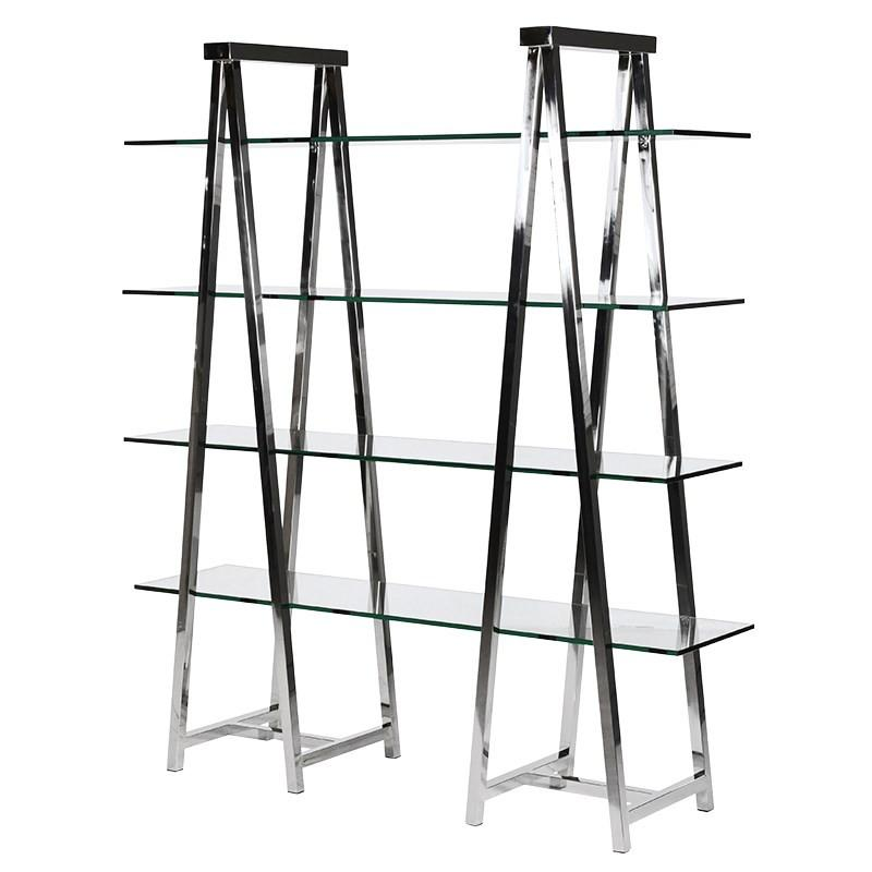 Pylon Nickel and Glass Shelving