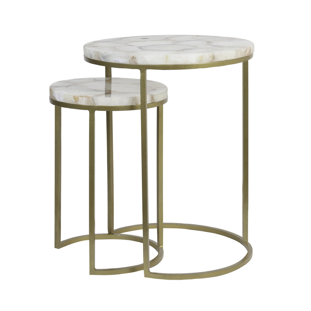 Questrine Side Tables in Agate
