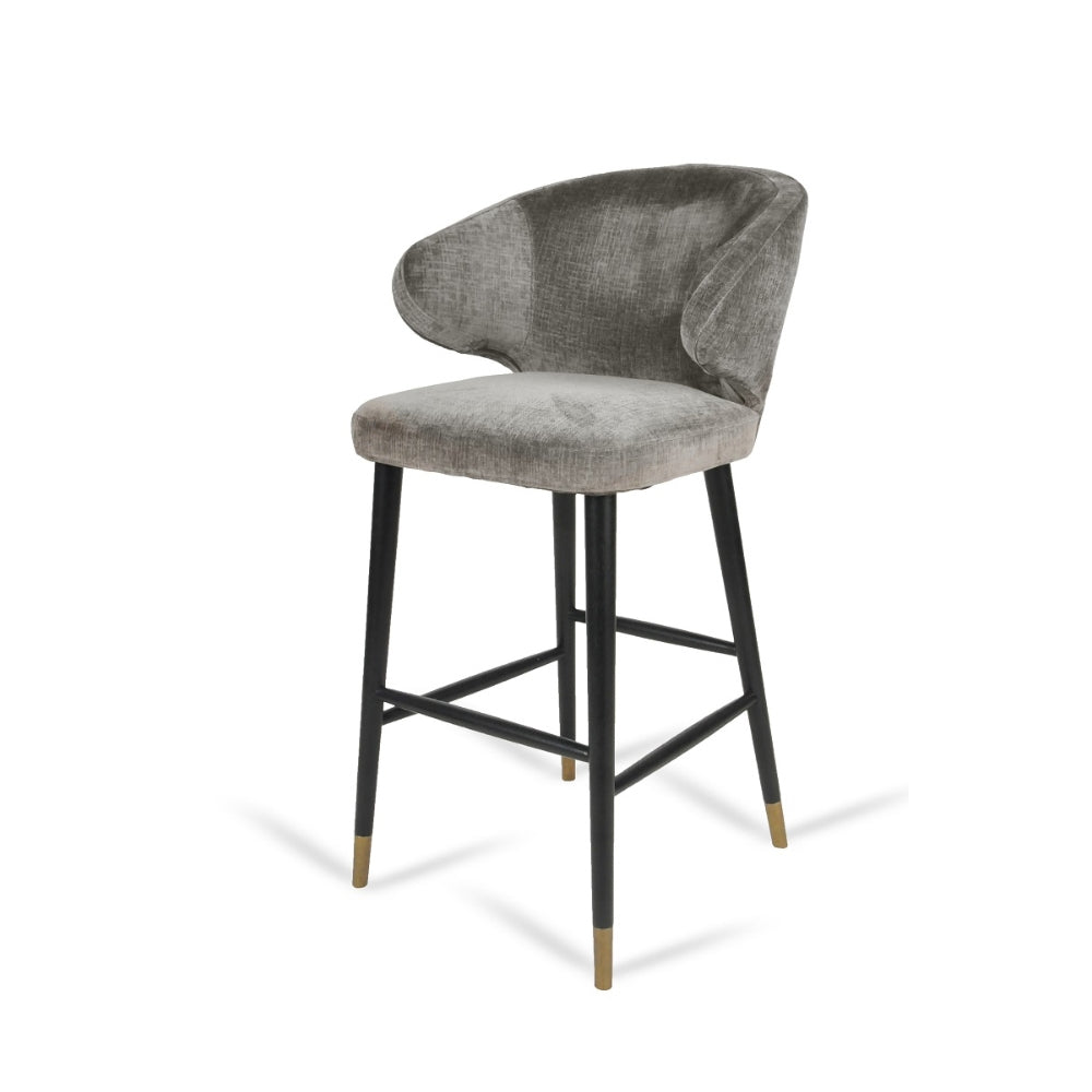 RV Astley Arrone Bar Stool in Mouse Chenille