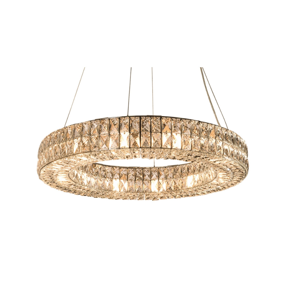 RV Astley Auxerre Pendant Lamp with Nickel and Polished Glass