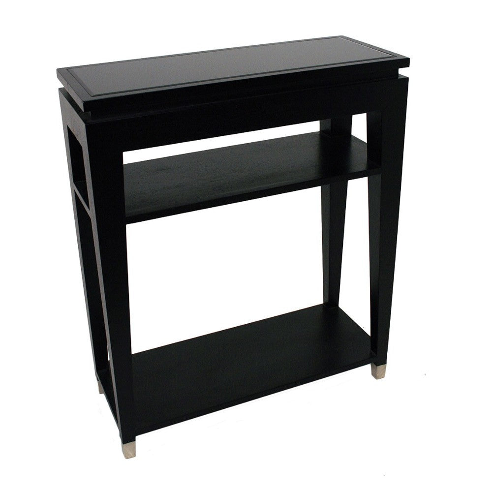 RV Astley Black Lacquered Console Table