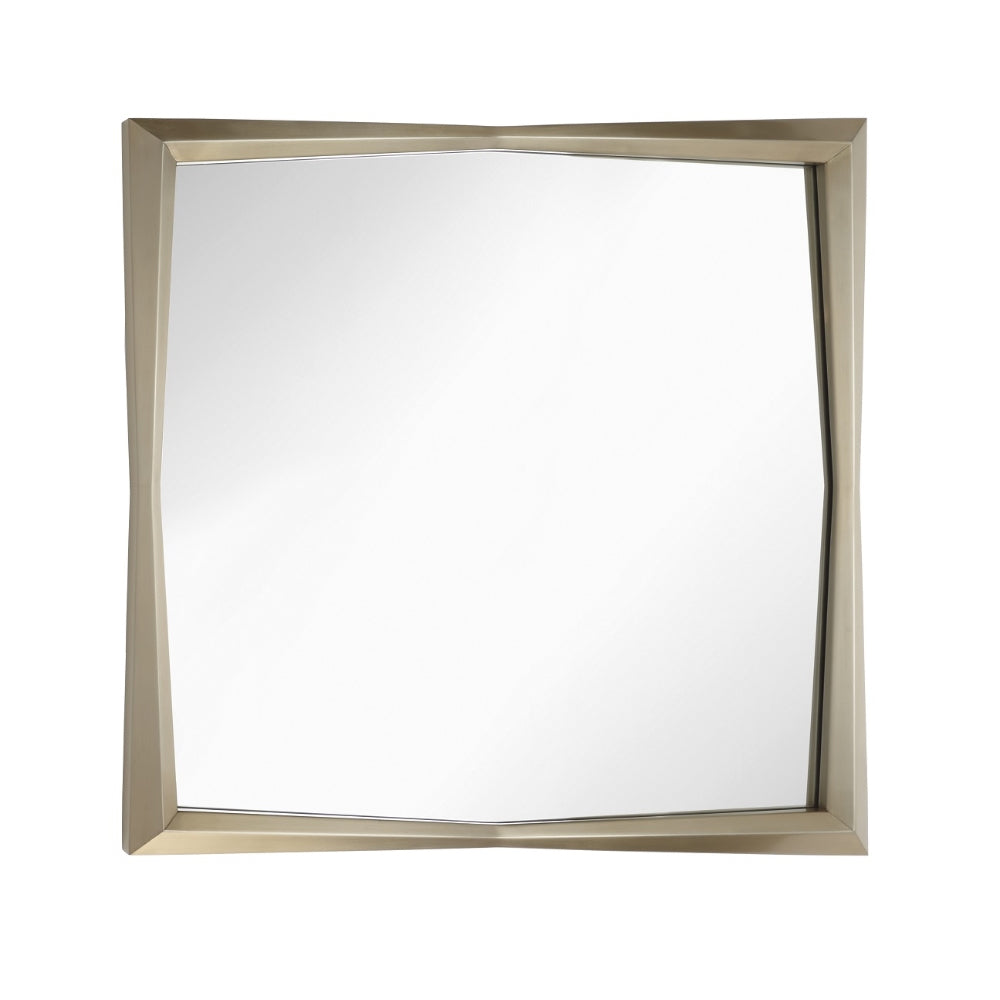 RV Astley Douai Mirror with Brushed Brass Effect Stainless Steel