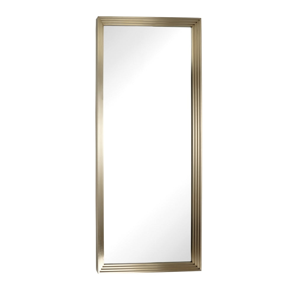 RV Astley Duras Mirror with Brushed Brass Effect Stainless Steel