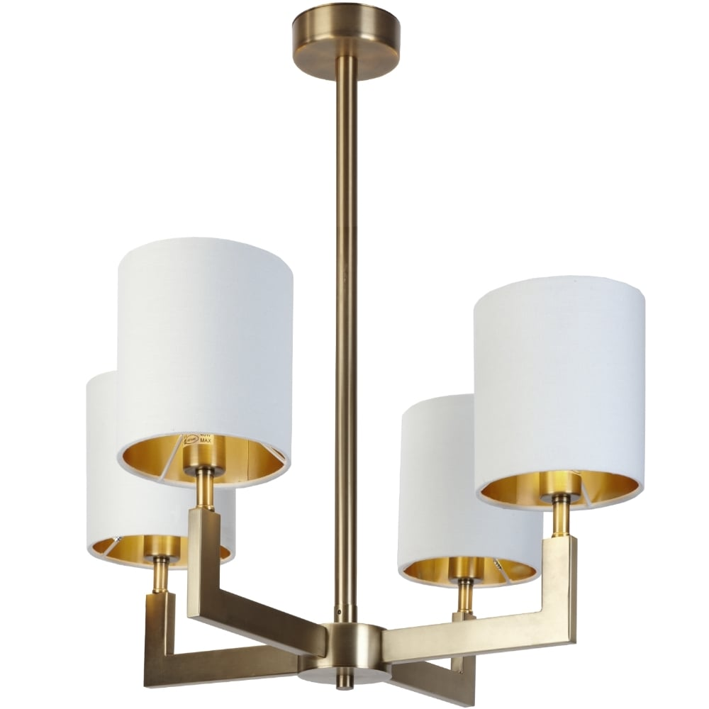 RV Astley Ealga 4 Arm Chandelier in Brushed Gold