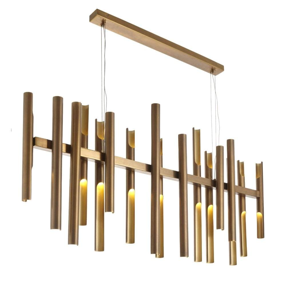 RV Astley Flute Brass Long Chandelier