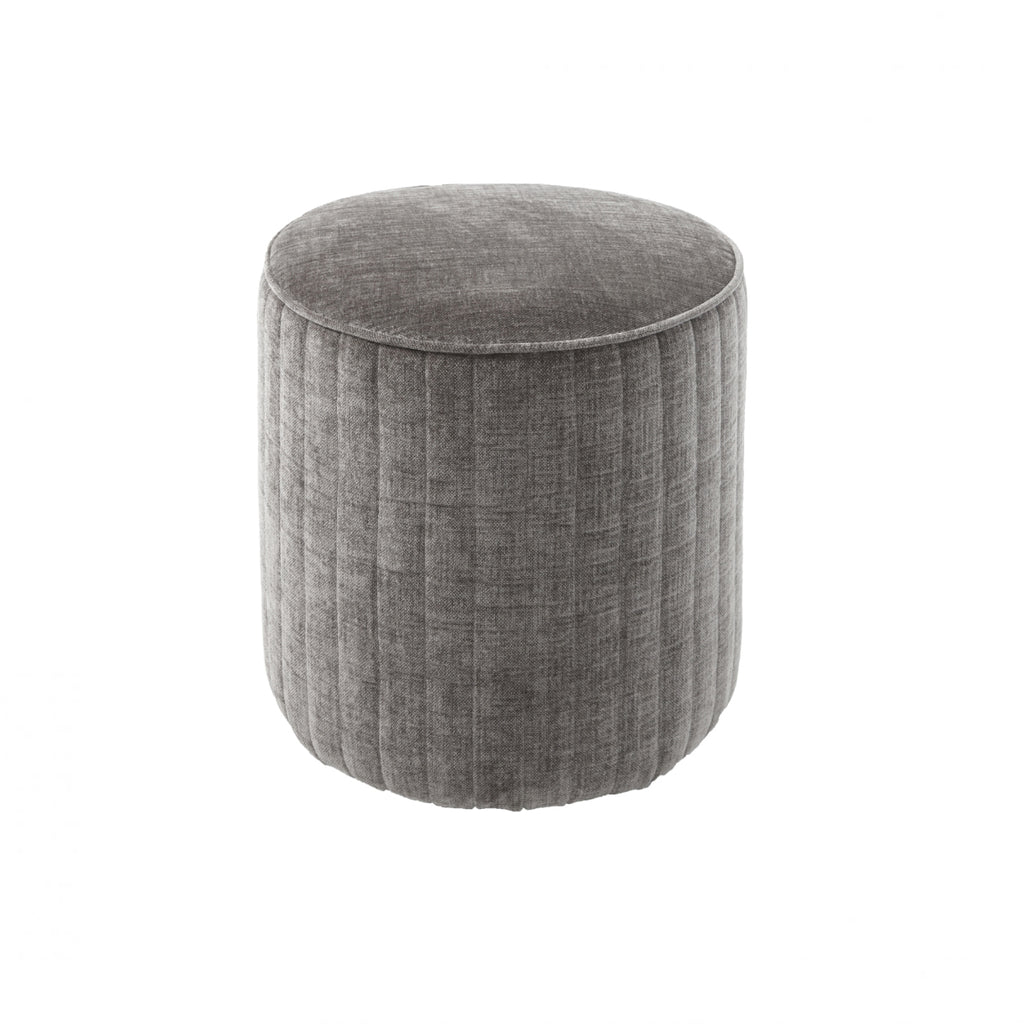 RV Astley Haceby Stool in Mouse Chenille