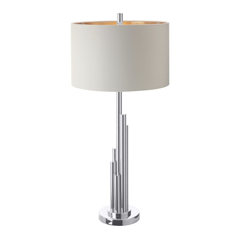 RV Astley Juke Silver Finish Table Lamp