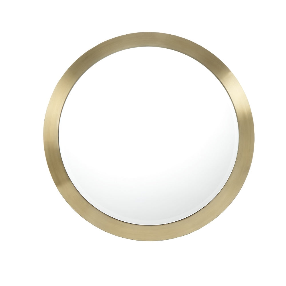RV Astley Macon Mirror with Brushed Brass Effect Stainless Steel