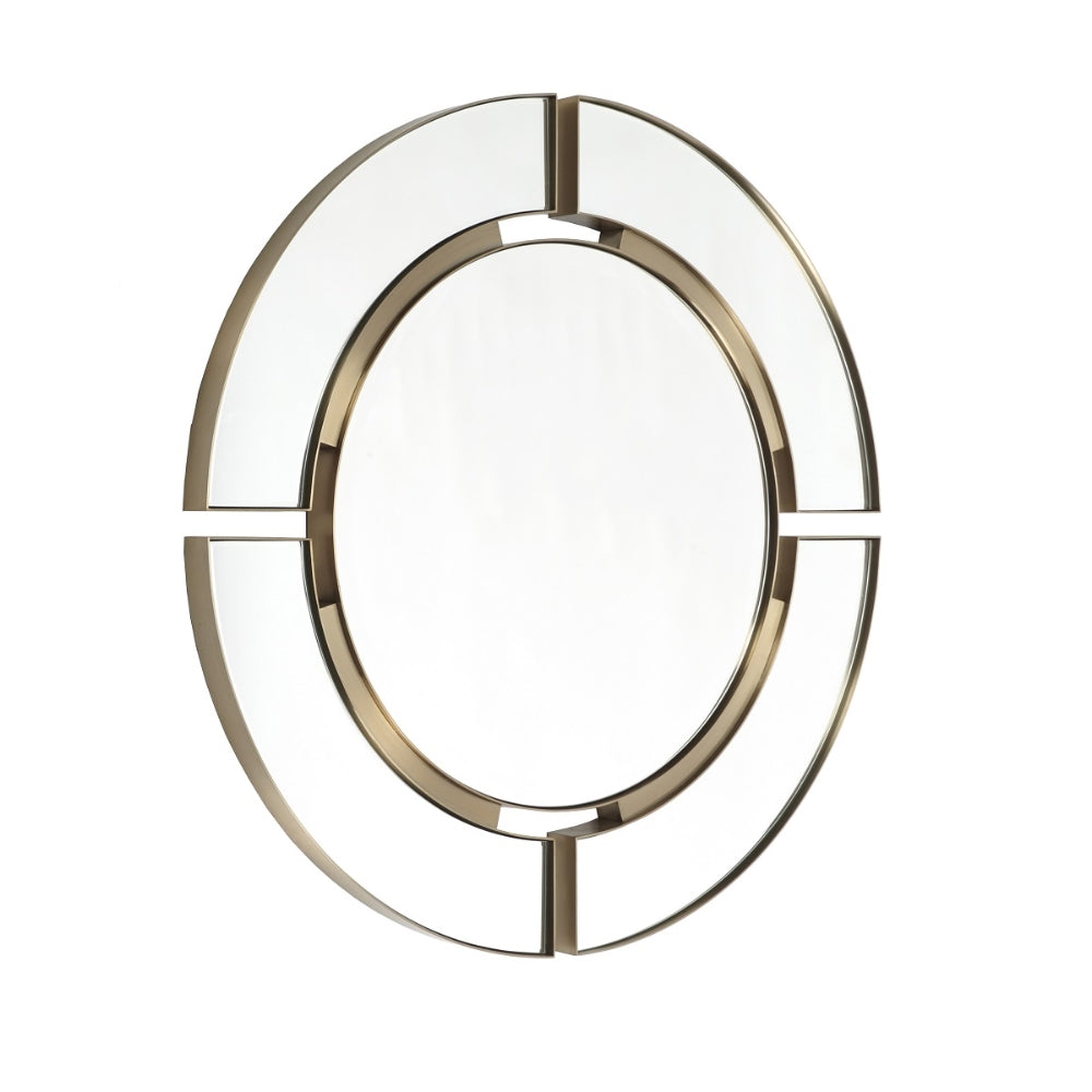 RV Astley Marcoles Mirror with Brushed Brass Effect Stainless Steel