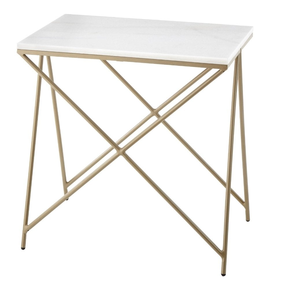 RV Astley Naill Marble Top Side Table