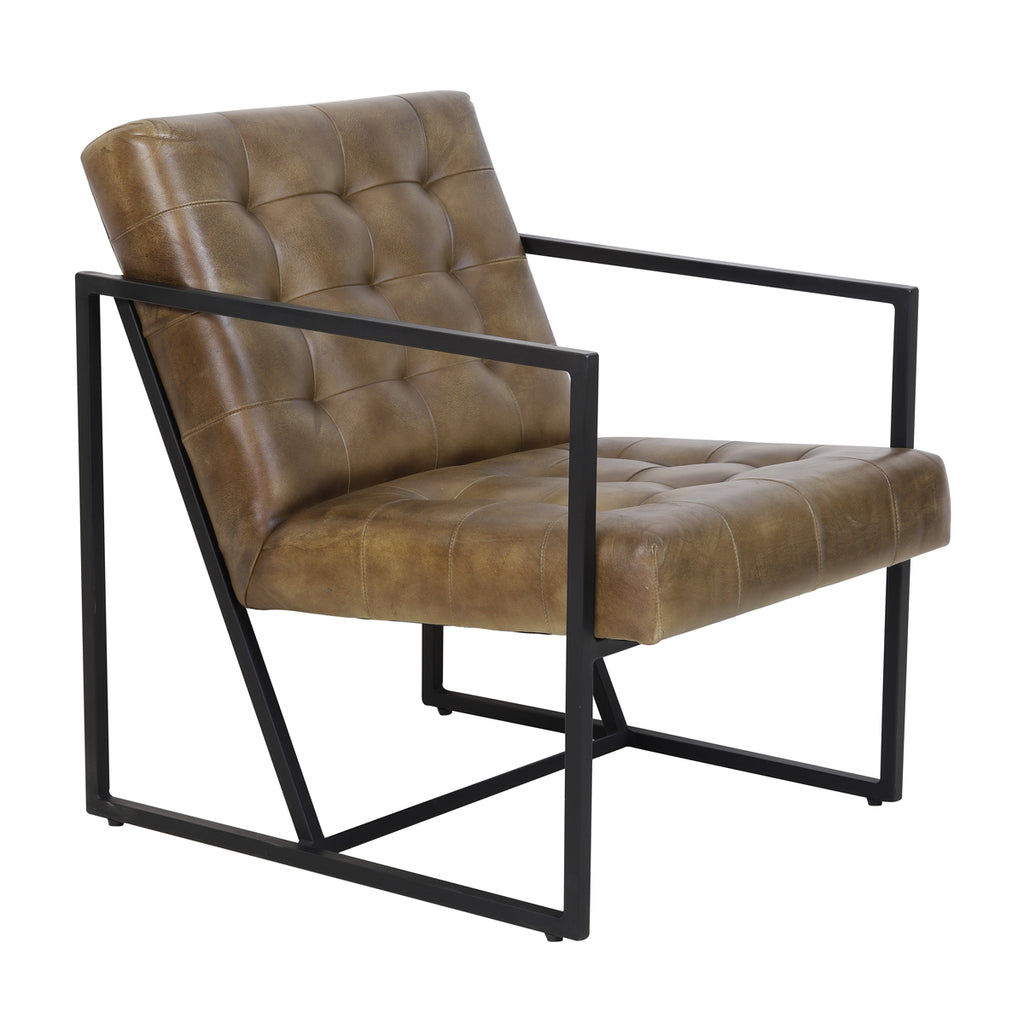 Rascino Chair in Brown Leather