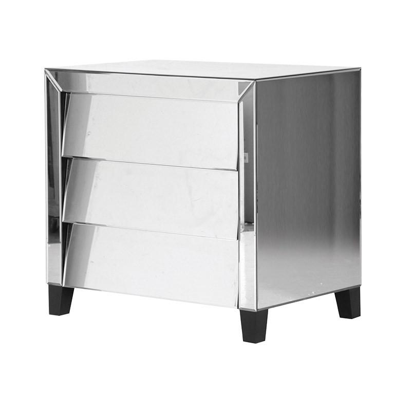 Retro 1950s Style Mirrored Chest with Tilt Drawers