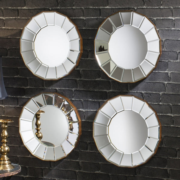 Round Art Deco Multi-Facet Mirror