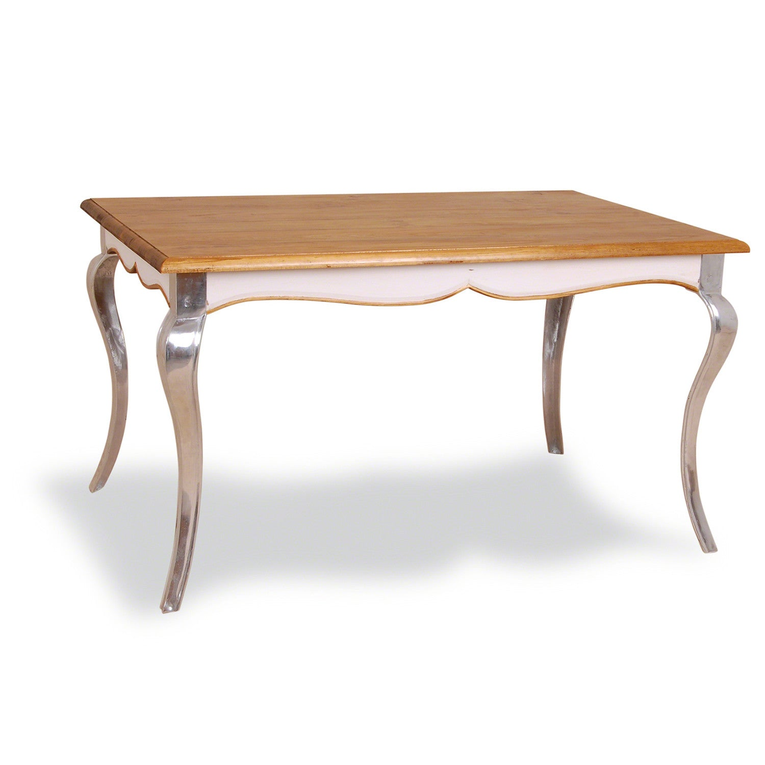 Shabby Dining Table with Metal Legs Shropshire Design