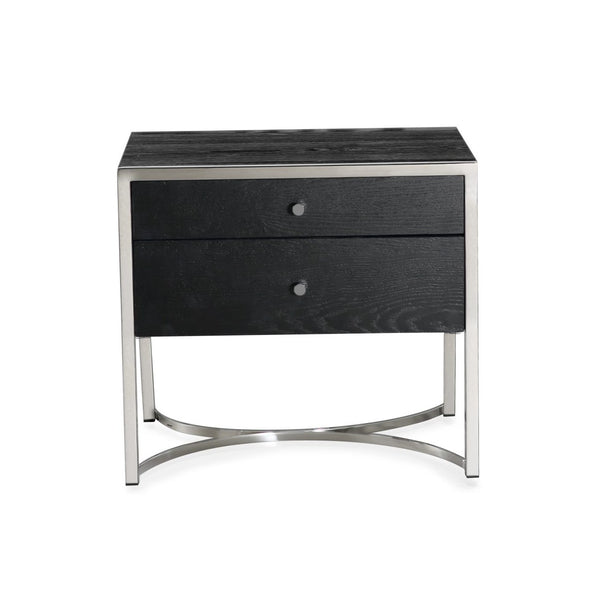 Rivoli Silver & Wenge Bedside Table