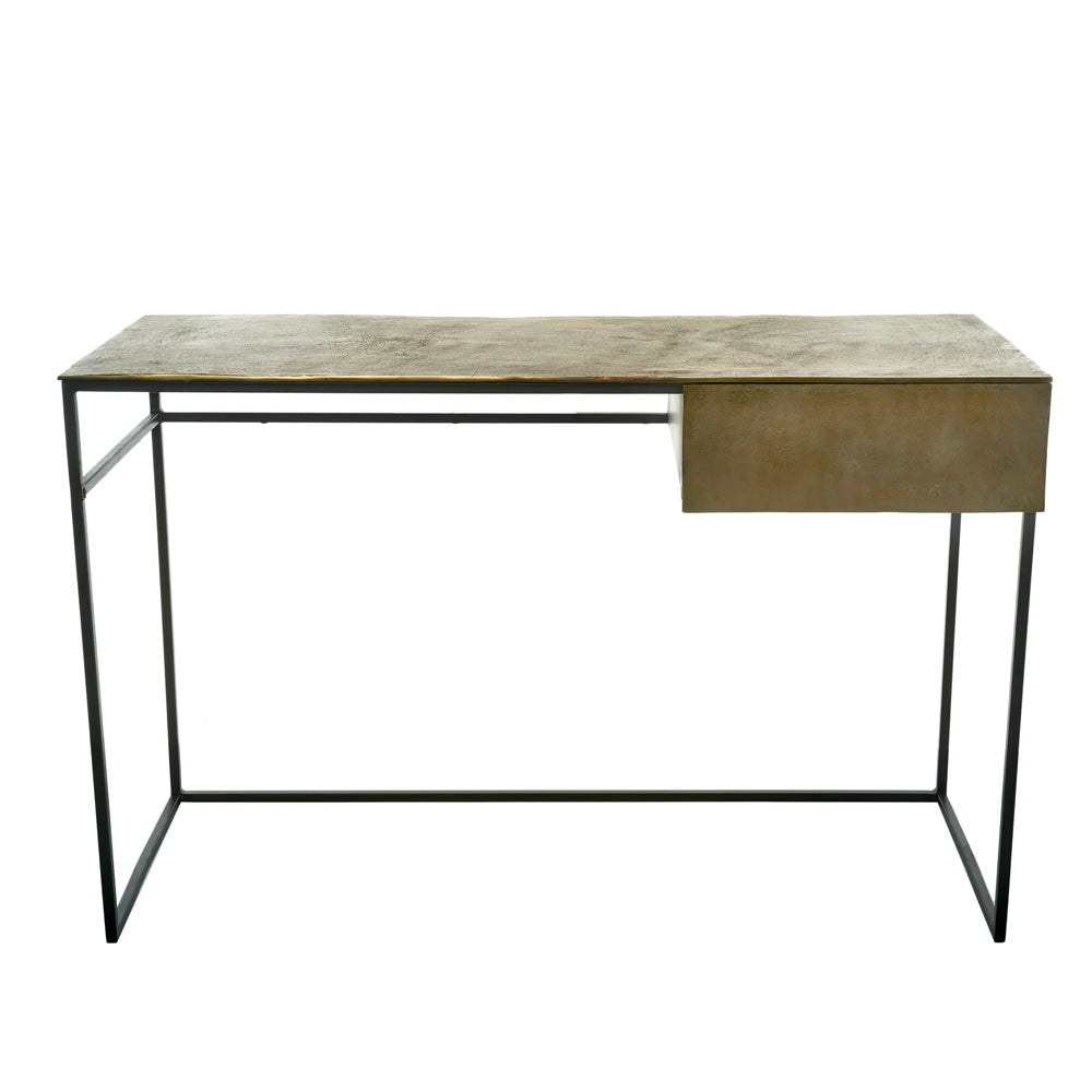 Simeon Desk with Antique Brass Plated Aluminum