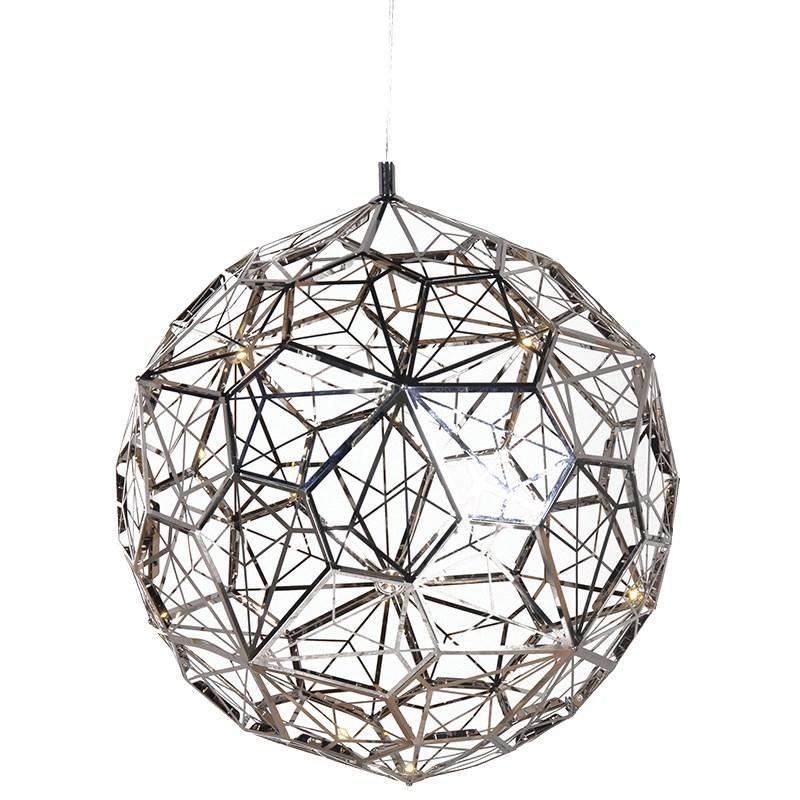 Small Silver Arabesque Orb Ceiling Light