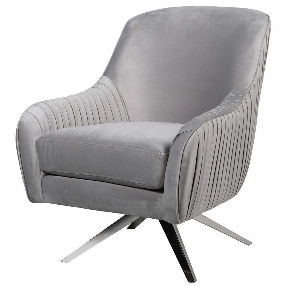 Spinning Silver Modern Swivel Chair