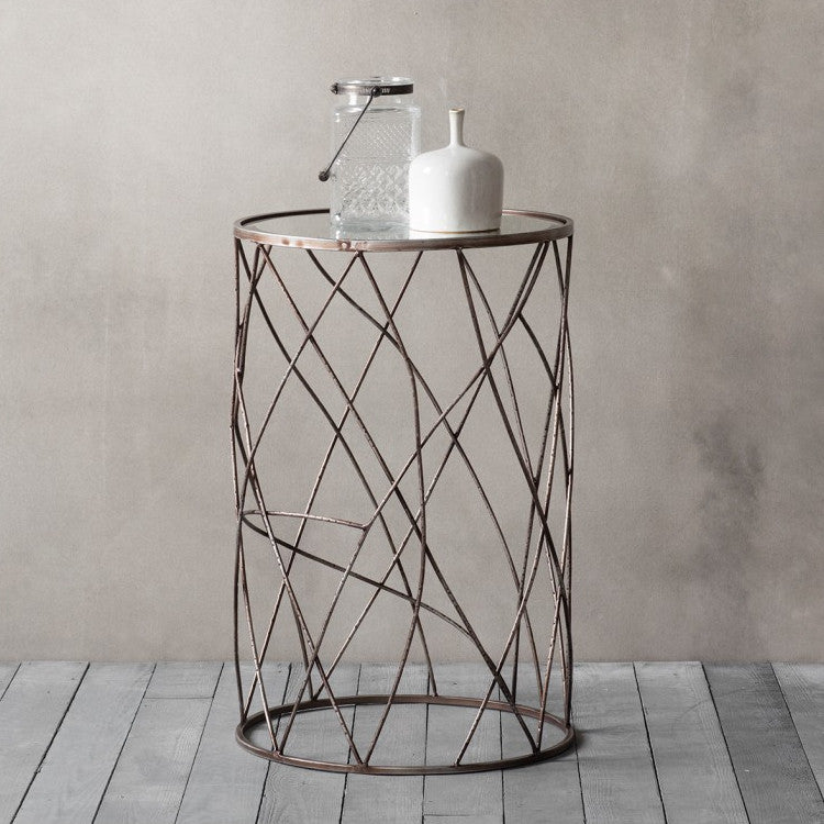 Sycamore Wire Side Table Shropshire Design