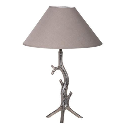 Tall Chrome Tree Branch Lamp