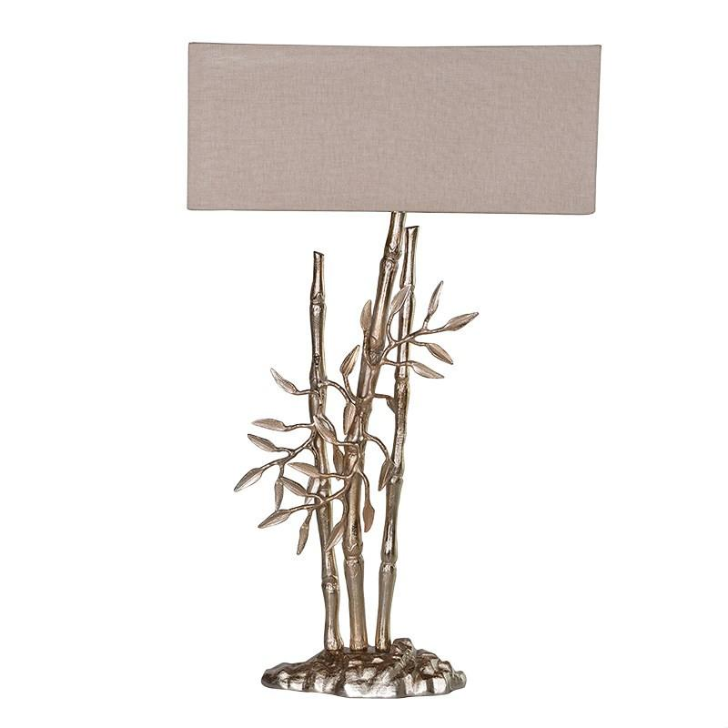 Tall Silver Bamboo Shoot Table Lamp